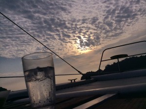 Watching the sunset with a G&T in hand.  Life doesnt get much better than this!