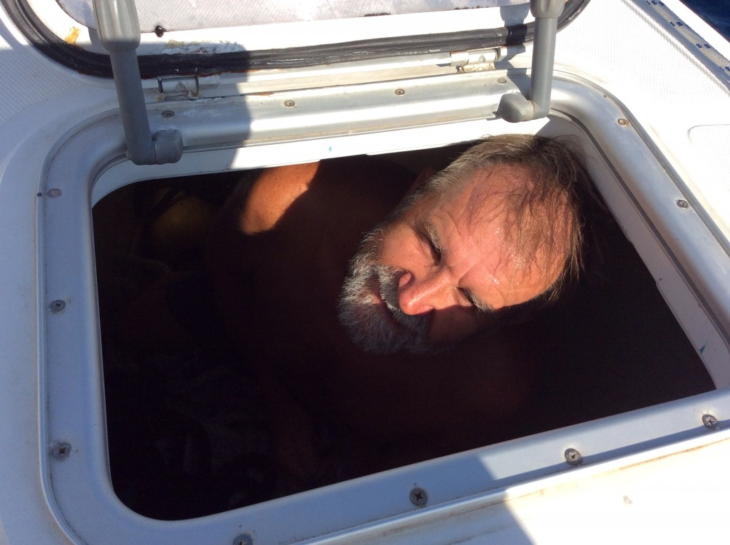 I didnt think it harsh to  imprison my skipper in a locker for being late for his watch!