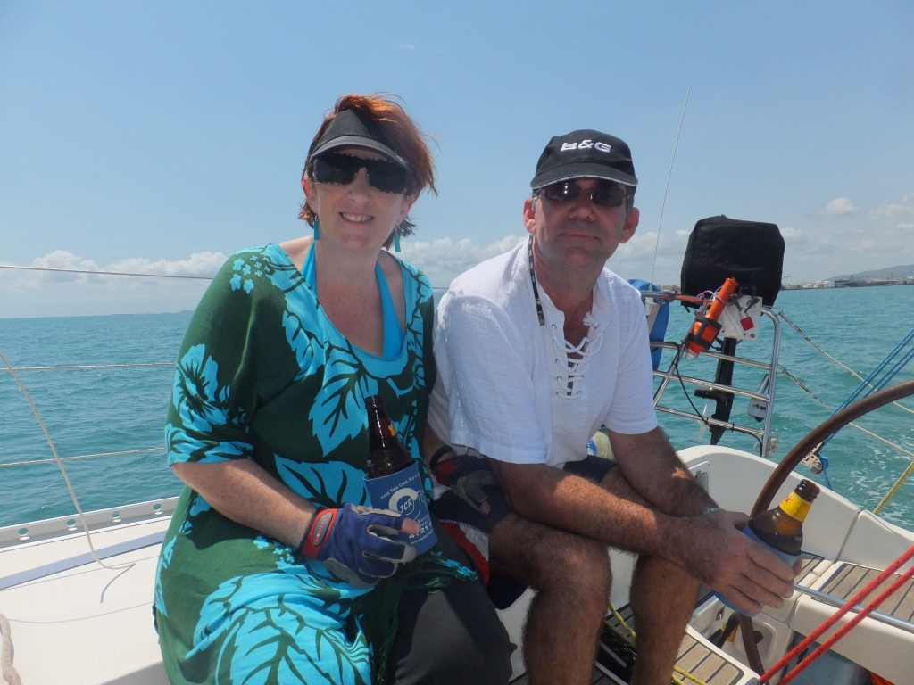 The lovely Mick and Val on their boat Panacea. They were to become my very dear friends!