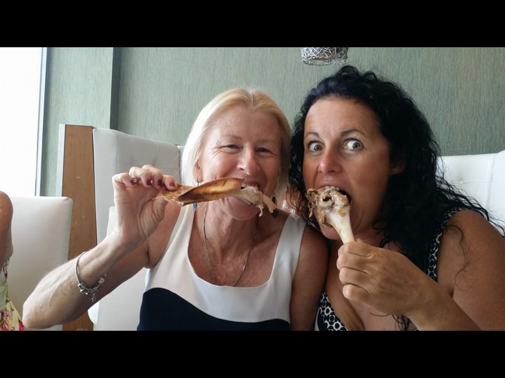My meat and seafood pal Nancy!