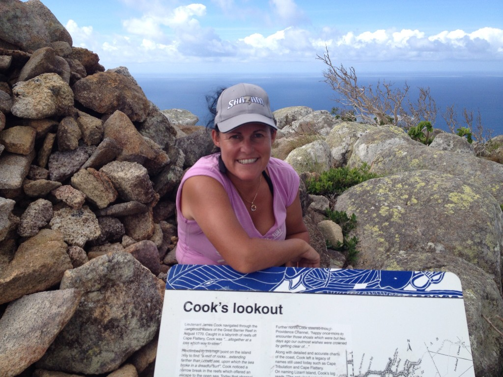 Heres me at the top of a big hill on a remote island out on the Great Barrier reef